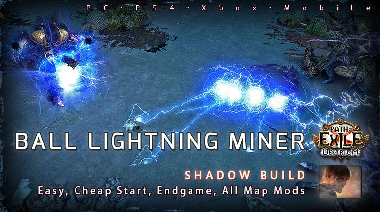 [3.10] PoE Delirium Shadow Ball Lightning Mine Saboteur Starter Build