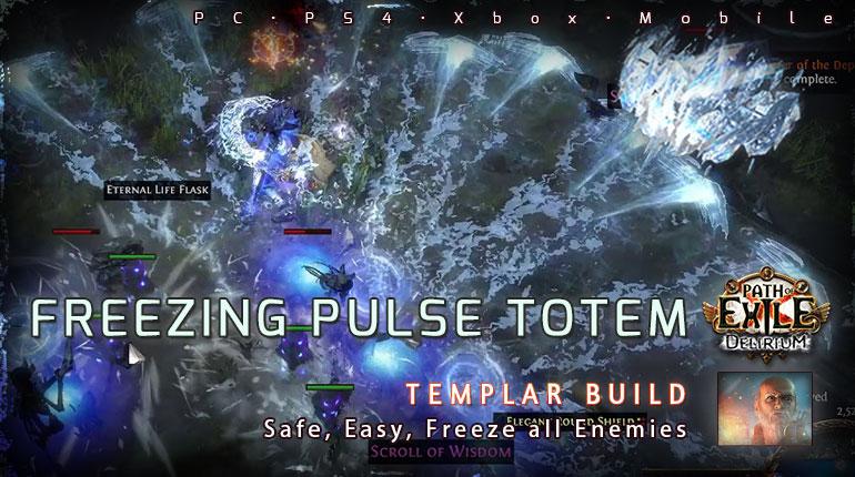 [3.10] PoE Delirium Templar Freezing Pulse Totem Hierophant Safe Build (PC,PS4,Xbox,Mobile)