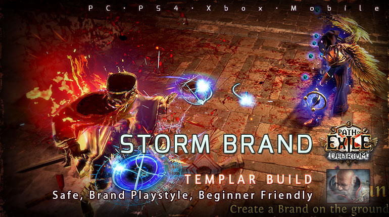 [3.10] PoE Delirium Templar Storm Brand Inquisitor Beginner Build (PC,PS4,Xbox,Mobile)