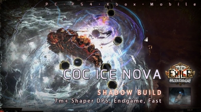 [3.10] PoE Delirium Shadow CoC Ice Nova Assassin 7M+ DPS Build (PC,PS4,Xbox,Mobile)