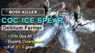 Get your Fastest & Strongest PoE 3.10 Delirium CoC Ice Spear Assassin