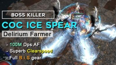 Get your Fastest & Strongest PoE 3.10 Delirium CoC Ice Spear Assassin