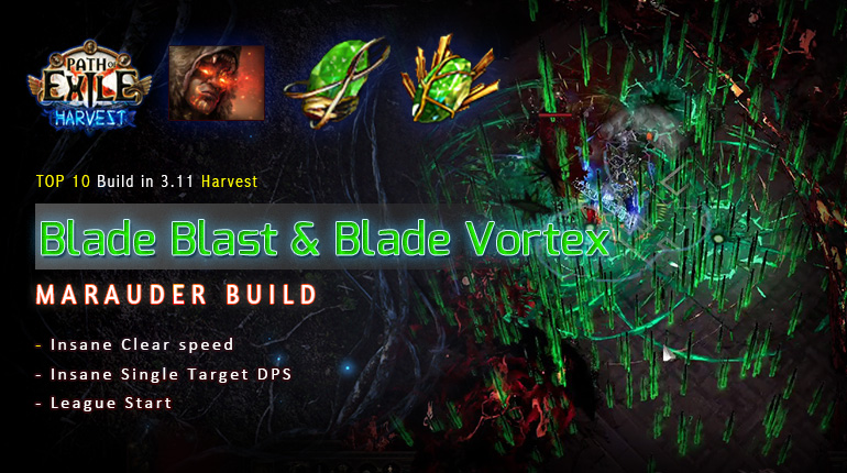 [Harvest] PoE 3.11 Mauarder Blade Blast Chieftain League Starter Build (PC,PS4,Xbox,Mobile)
