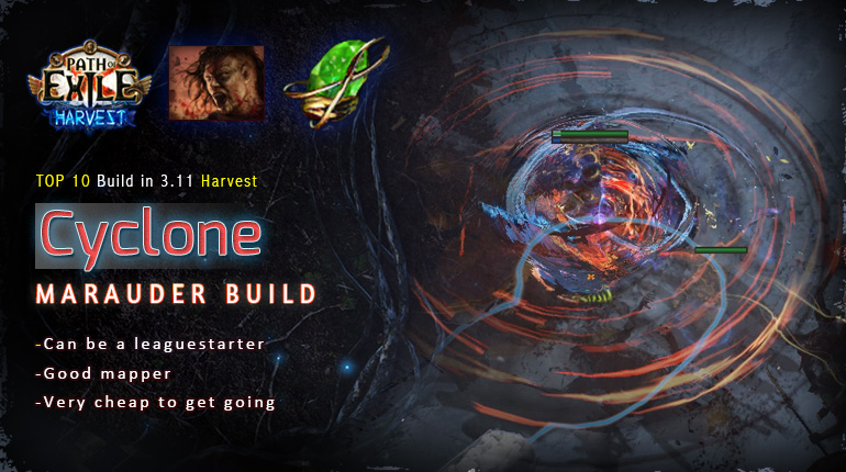 [Harvest] PoE 3.11 Mauarder Impale Cyclone Berserker Starter Build (PC,PS4,Xbox,Mobile)