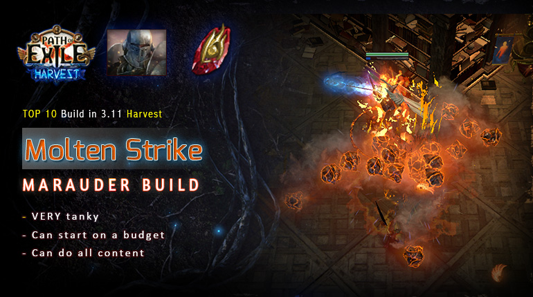 [Harvest] PoE 3.11 Mauarder Molten Strike Juggernaut Starter Fridendly Build (PC,PS4,Xbox,Mobile)