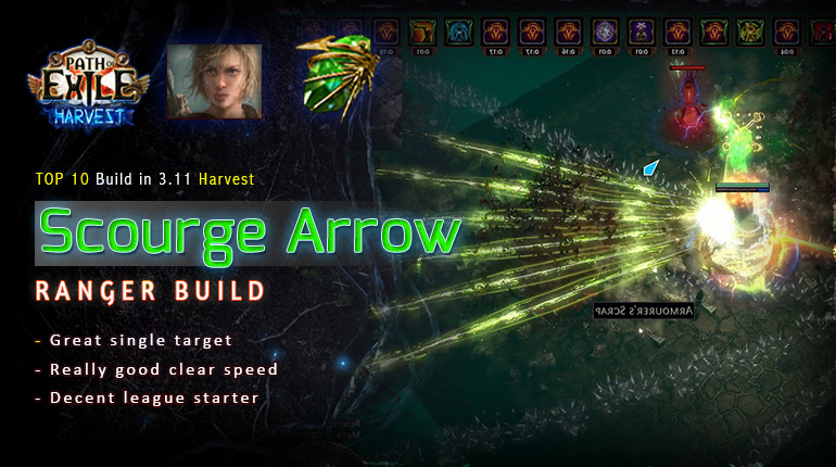 [Harvest] PoE 3.11 Ranger Scourge Arrow Pathfinder Endgame Build (PC,PS4,Xbox,Mobile)