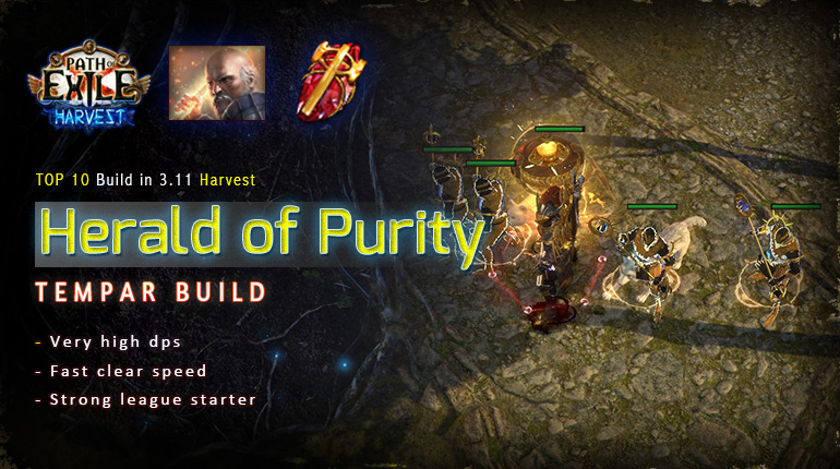 [Harvest] PoE 3.11 Templar Herald of Purity Guardian Starter Tank Build (PC,PS4,Xbox,Mobile)