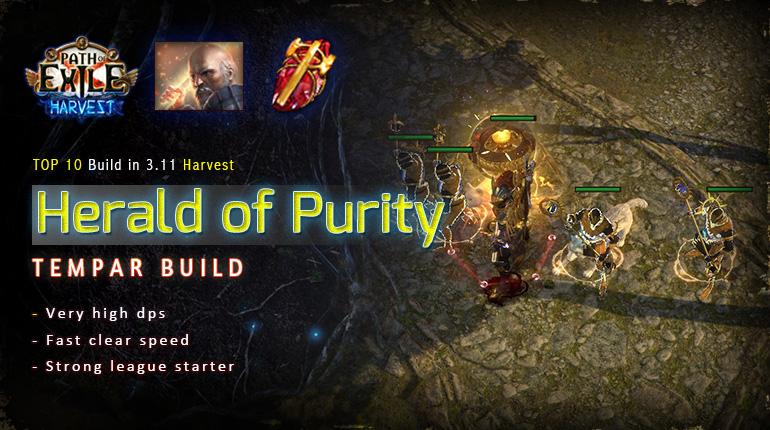 [Harvest] PoE 3.11 Templar Herald of Purity Guardian Starter Tank Build (PC,PS4,Xbox,Mobile)