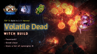 [Harvest] PoE 3.11 Witch Volatile Dead Necromancer Facetank Build (PC,PS4,Xbox,Mobile)