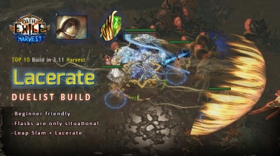 [Harvest] PoE 3.11 Harvest Duelist Lacerate Gladiator Safe Starter Build (PC,PS4,Xbox,Mobile)