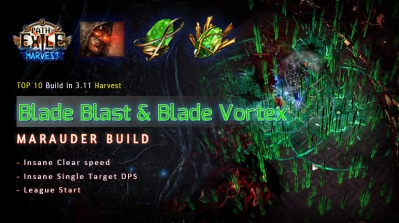 [Harvest] PoE 3.11 Mauarder Blade Blast Chieftain League Starter Build