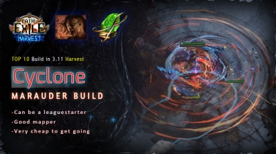 [Harvest] PoE 3.11 Mauarder Impale Cyclone Berserker Starter Build