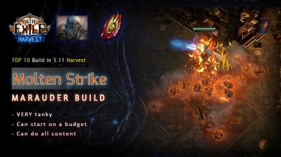 [Harvest] PoE 3.11 Mauarder Molten Strike Juggernaut Starter Fridendly Build