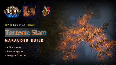 [Harvest] PoE 3.11 Mauarder Tectonic Slam Berserker Tanky Build (PC,PS4,Xbox,Mobile)