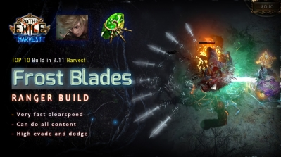 [Harvest] PoE 3.11 Ranger Frost Blades Raider Fast Build (PC,PS4,Xbox,Mobile)