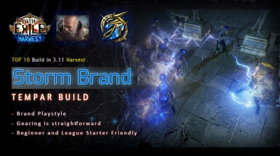 [Harvest] PoE 3.11 Templar Storm Brand Inquisitor League Start Build