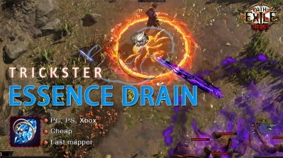 [3.12] PoE Heist Trickster Essence Drain Shadow Cheap Build (PC,PS4,Xbox,Mobile)
