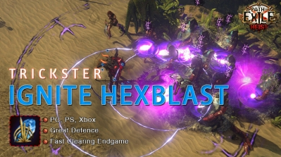 [3.12] PoE Heist Trickster Ignite Hexblast Shadow Build