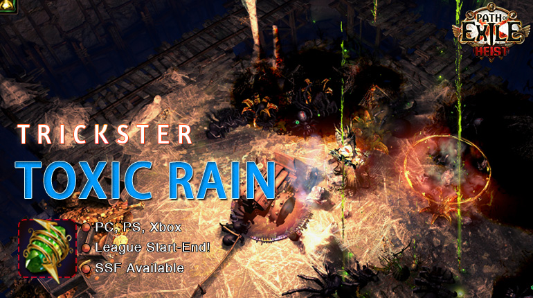 PoE Trickster Toxic Rain Shadow Starter Build - Get Your Endless Delve Prizes