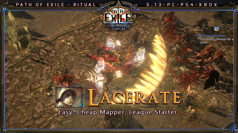 Ritual Poe 3 13 Duelist Gladiator Lacerate Tank Build Pc Ps4 Xbox Poecurrencybuy Com