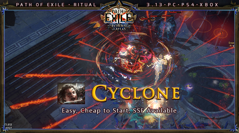 [Ritual] PoE 3.13 Duelist Slayer Cyclone Starter Build (PC,PS4,Xbox)