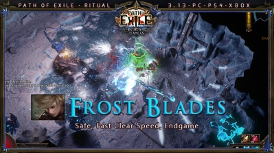 [Ritual] PoE 3.13 Ranger Frost Blades Raider Fast Build (PC,PS4,Xbox)