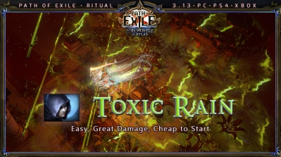 [Ritual] PoE 3.13 Shadow Trickster Toxic Rain League Starter Build (PC,PS4,Xbox)