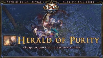 [Ritual] PoE 3.13 Templar Guardian Herald of Purity Starter Build (PC,PS4,Xbox)