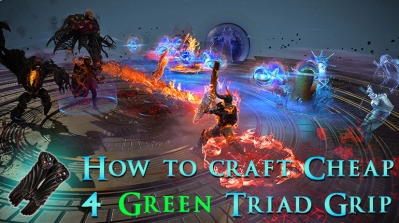How to Craft Cheap 4 Green Sockets Triad Grip