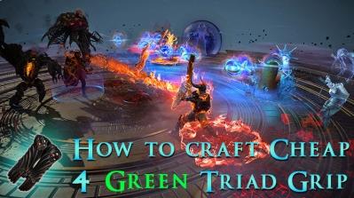 How to Craft Cheap 4 Green Sockets Triad Grip