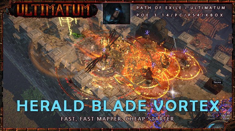[Ultimatum] PoE 3.14 Assassin Herald Blade Vortex Shadow Cheap Build