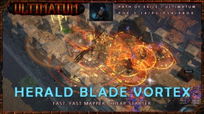 [Ultimatum] PoE 3.14 Assassin Herald Blade Vortex Shadow Cheap Build