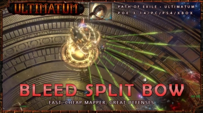 [Ultimatum] PoE 3.14 Gladiator Bleed Split Bow Cheap Duelist Build