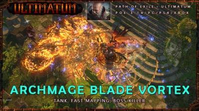 [Ultimatum] PoE 3.14 Hierophant Fast Archmage Blade Vortex Templar Safe Build