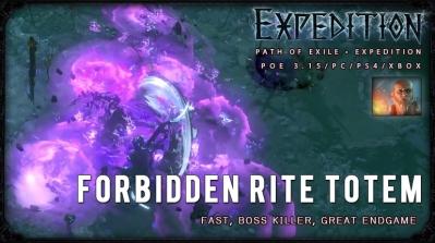 [Expedition] PoE 3.15 Templar Forbidden Rite Totem Hierophant Endgame Build