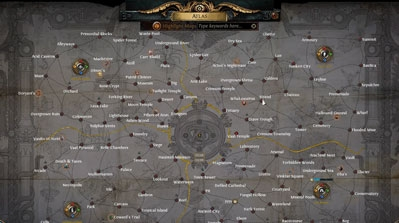 POE scourge 3.16 atlas layout with all maps revealed