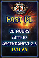 PC-Ritual/Fast PL(Any Classes*20Hours*Lvl.68*Act1-10*Ascendancy1.2.3)